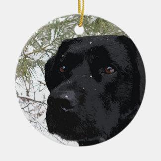 Black Labrador - Sparkling Pines Christmas Ornament