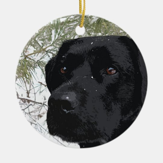 Black Labrador - Sparkling Pines Christmas Ornament