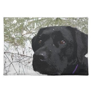 Black Labrador - Sparkling Pines Placemat
