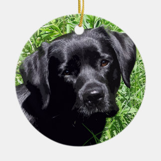 Black Labrador -Spring Day Christmas Ornament
