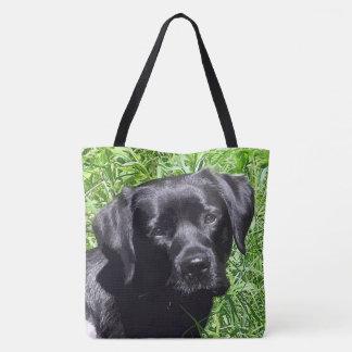 Black Labrador - Spring Day Tote Bag