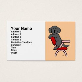 Black Labrador Student 3 Cartoon Business Card