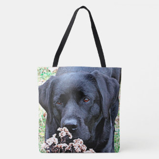 Black Labrador - Take Time Tote Bag