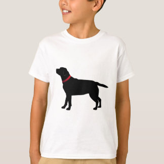 Black Labrador with Red Collar T-Shirt