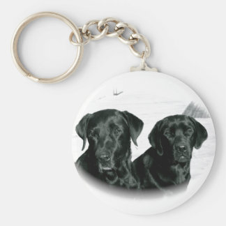Black Labs Key Ring
