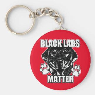 BLACK LABS MATTER 2 BASIC ROUND BUTTON KEY RING