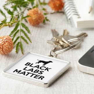 Black Labs Matter Premium Keychains