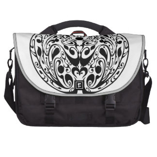 Black labyrinth 1 laptop bags