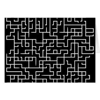 Black labyrinth maze design cards
