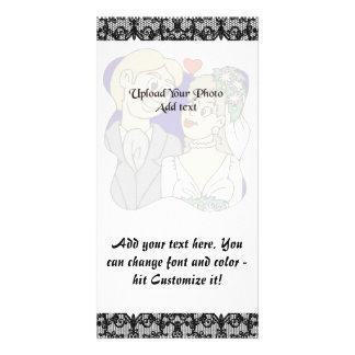 Black lace 1 photo card template