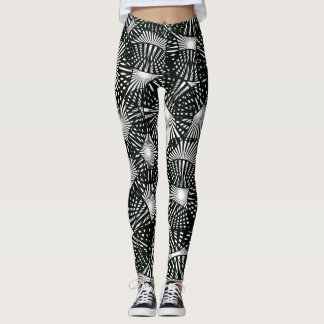 Black Lace Abstract Leggings