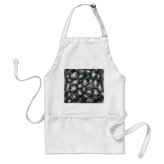 Black Lace Abstract Standard Apron