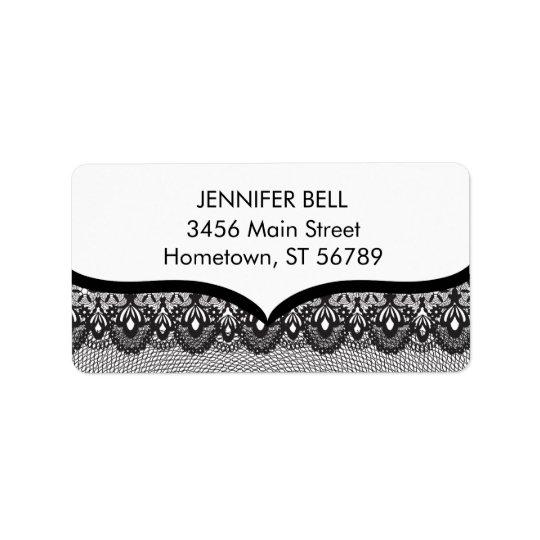 Black Lace Address Label