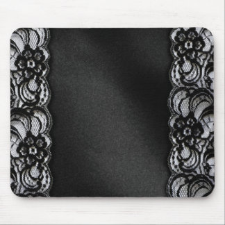 Black Lace and Satin Mouse Mat
