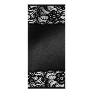 Black Lace and Satin Rack Card Design