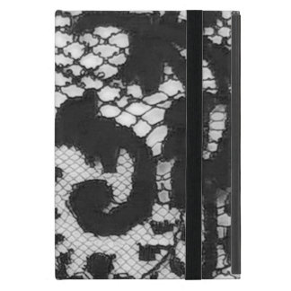 Black lace fabric detail Gothic goth iPad Mini Case