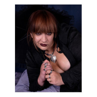 Black Lace Goth Postcard