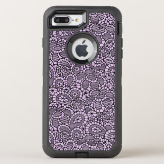 Black Lace Lacy-Look Design Otter Box OtterBox Defender iPhone 8 Plus/7 Plus Case