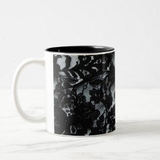 Black lace mug
