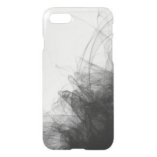 Black lace netting fashion sophisticated clear iPhone 7 case