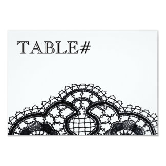 Black Lace on White (Table Number Cards) Custom Invites