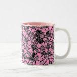 black lace over pink feminine