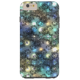 Black Lace Over Soft Pastel Highlights Tough iPhone 6 Plus Case
