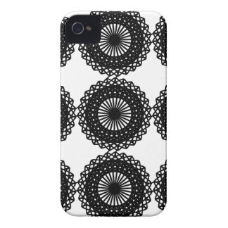 Black Lace Pattern Design. Custom Case-Mate iPhone 4 Case