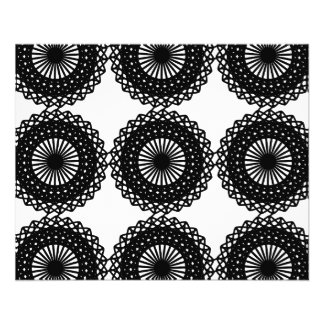 Black Lace Pattern Design. Custom 11.5 Cm X 14 Cm Flyer