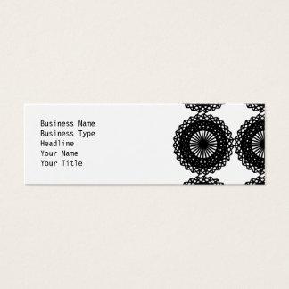 Black Lace Pattern Design. Custom Mini Business Card