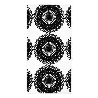 Black Lace Pattern Design. Custom Personalized Photo Card