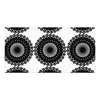 Black Lace Pattern Design Custom Photo Card