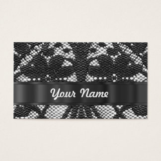 Black lace personalized business card