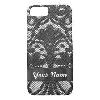 Black lace personalized iPhone 8/7 case
