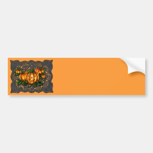 BLACK LACE, PUMPKIN PATCH by SHARON SHARPE Bumper Stickers