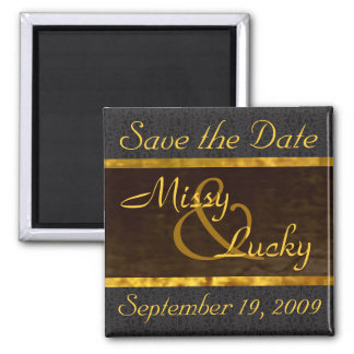 Black Lace Save the Date Magnet