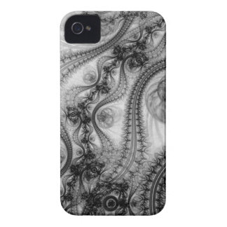 black lace tendrils iPhone 4 case