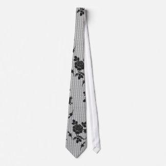 Black Lace Tie