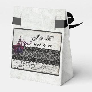 Black Lace Wedding Suite Favor Boxes