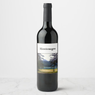 Black Lake. Žabljak. Montenegro. Wine Label