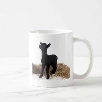 black lamb coffee mug