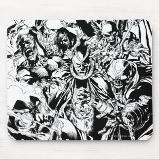 Black Lantern Corps - Black and White Mouse Pad