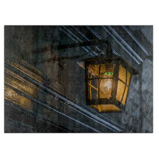 Black lantern glass cutting board