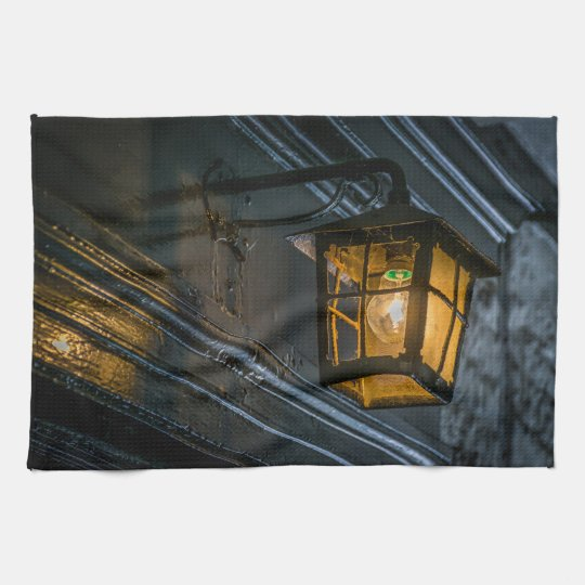 Black lantern kitchen towel