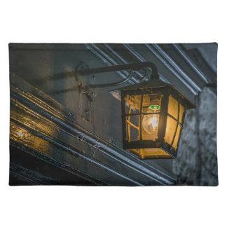 Black lantern placemat