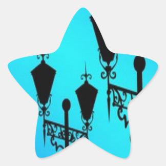 Black lanterns vectors design star stickers