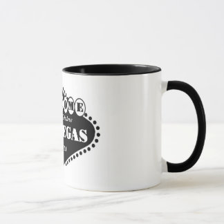 BLACK Las Vegas Sign Ringer T Mug