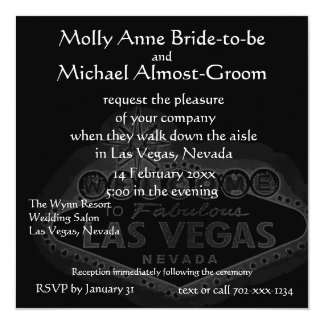 Black Las Vegas Wedding Card