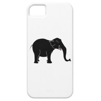 Black Laughing Elephant. Barely There iPhone 5 Case
