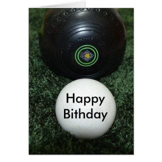 Black Lawn Bowls, Add Your Message Birthday Card